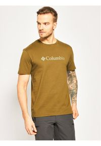 Zielony t-shirt columbia