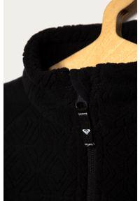 Czarna bluza rozpinana Roxy bez kaptura, casualowa