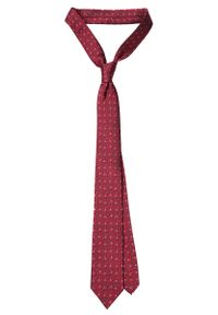 Czerwony krawat Lancerto w kropki, elegancki