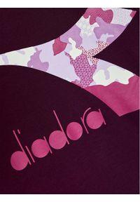 Fioletowy t-shirt Diadora