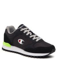 Champion - Sneakersy CHAMPION - Dsm S21698-S21-KK001 Nbk/F.Green/Grey. Kolor: czarny. Materiał: nubuk, materiał, zamsz. Szerokość cholewki: normalna. Styl: klasyczny