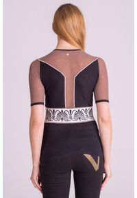 Wielokolorowa bluzka Versace Collection rockowa