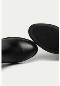 Czarne botki Answear Lab wakacyjne, z cholewką, na zamek