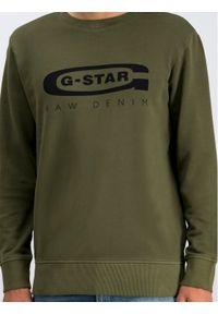 G-Star RAW - G-Star Raw Bluza D14727-B715-724 Zielony Regular Fit. Kolor: zielony