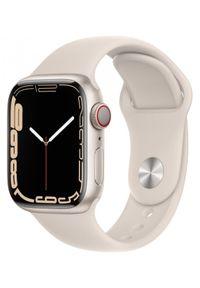 APPLE - Smartwatch Apple Watch 7 GPS+Cellular 41mm aluminium,księżycowa poświata|księżycowa poświata pasek sport. Rodzaj zegarka: smartwatch. Styl: sportowy