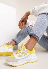 Renee - Żółte Sneakersy Vhesraya. Kolor: żółty