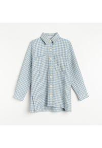 Reserved - Kurtka koszulowa ze wzorem w pepitkę - Niebieski. Kolor: niebieski