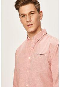 Czerwona koszula Tom Tailor Denim długa, button down, casualowa