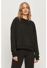 Czarna bluza Noisy may bez kaptura, długa, z długim rękawem