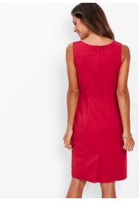 Sukienka ołówkowa bonprix czerwony. Kolor: czerwony. Typ sukienki: ołówkowe. Długość: midi