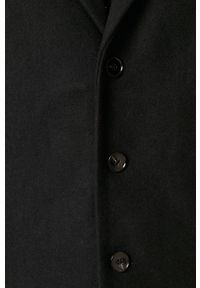 Niebieski płaszcz PRODUKT by Jack & Jones z klasycznym kołnierzykiem, na co dzień, casualowy