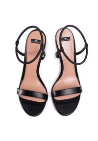 Czarne sandały Elisabetta Franchi