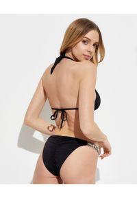 BEACH BUNNY - Dół od bikini Tiana. Kolor: czarny. Materiał: guma, materiał. Wzór: aplikacja