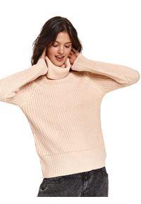 Różowy sweter TOP SECRET z golfem #5