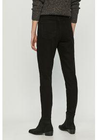 Czarne jeansy loose fit Cross Jeans z podwyższonym stanem