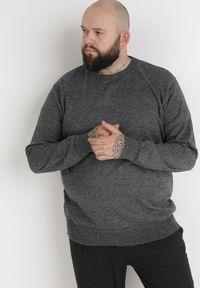 Born2be - Szary Sweter Z Wełną Orameia. Kolekcja: plus size. Kolor: szary. Materiał: wełna. Styl: klasyczny