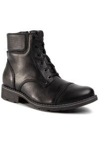 Czarne buty zimowe Nik eleganckie, z cholewką