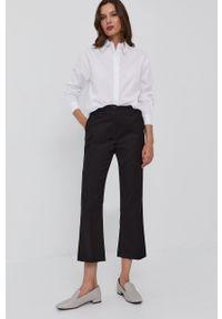 Silvian Heach - Spodnie. Okazja: na co dzień. Stan: podwyższony. Kolor: czarny. Materiał: tkanina. Styl: casual