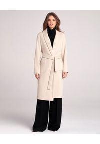 LA MANIA - Beżowy płaszcz Pozi. Okazja: do pracy, na spacer. Kolor: beżowy. Materiał: materiał #1