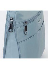 Wittchen - Damska listonoszka z nylonu duża. Kolor: niebieski. Styl: casual