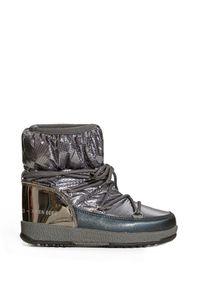 Moon Boot - Buty zimowe MOON BOOT JR GIRL LOW NYLON PREMIUM WP. Materiał: nylon. Szerokość cholewki: normalna. Sezon: zima