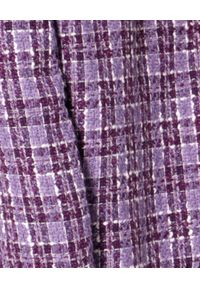 AGGI - Tweedowy żakiet Valentina. Okazja: do pracy. Kolor: różowy, wielokolorowy, fioletowy. Materiał: tkanina, żakard, szyfon. Styl: elegancki