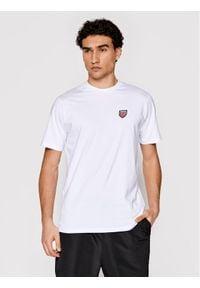Prosto. - PROSTO. T-Shirt Hugeback 1102 Biały Regular Fit. Kolor: biały