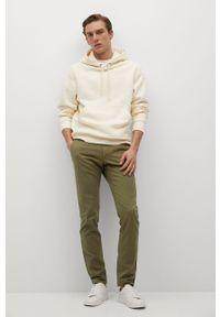 Mango Man - Spodnie BARNA. Kolor: brązowy, wielokolorowy, złoty. Materiał: elastan, tkanina, materiał, bawełna. Wzór: gładki #6