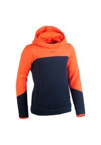 OFFLOAD - Bluza z kapturem Hoodie do Rugby R500 dla dzieci. Kolor: niebieski, czerwony, wielokolorowy, pomarańczowy. Materiał: poliester, materiał, bawełna