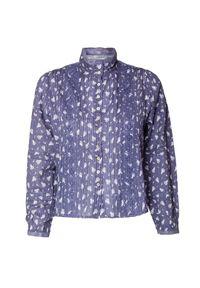 Niebieska koszula LoveShackFancy z haftami