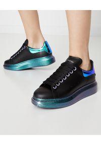 Czarne sneakersy Alexander McQueen gładkie