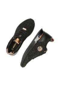 MEXX - Mexx - Buty Gitte. Nosek buta: okrągły. Zapięcie: sznurówki. Kolor: czarny. Materiał: skóra, guma