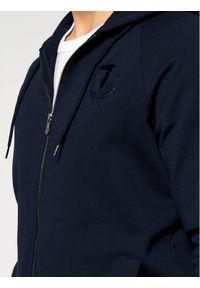 Trussardi Jeans - Trussardi Bluza Full Zip With Hood 52F00175 Granatowy Regular Fit. Kolor: niebieski