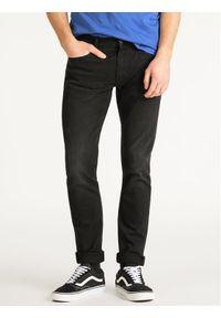 Lee Jeansy Slim Fit Luke L719IZHL Czarny Slim Fit. Kolor: czarny. Materiał: elastan, jeans, poliester, bawełna