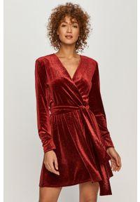 Brązowa sukienka MAX&Co. prosta, casualowa