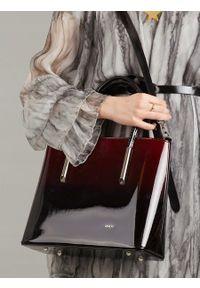Czarna torebka ROVICKY elegancka, lakierowana