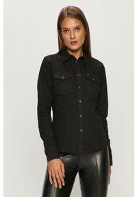Czarna koszula Lee długa, klasyczna, na co dzień