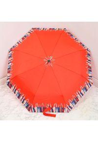 Parasol składany DOPPLER PA158 pomarańczowy. Kolor: pomarańczowy. Materiał: materiał
