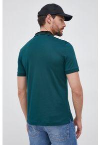 BOSS - Boss - Polo bawełniane. Typ kołnierza: polo. Kolor: zielony. Materiał: bawełna. Długość: krótkie