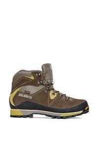 Brązowe buty trekkingowe Dolomite na lato, z cholewką, z cholewką przed kolano, Gore-Tex