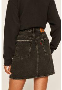 Czarna spódnica Levi's® na co dzień, biznesowa, z podwyższonym stanem