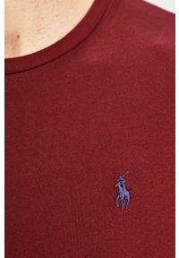 Brązowa koszulka z długim rękawem Polo Ralph Lauren polo, gładkie