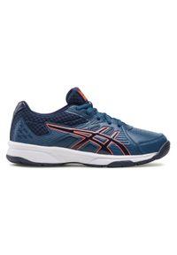 Niebieskie buty komunijne Asics