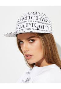 MAISON MICHEL PARIS - Biało-czarna czapka z nadrukiem. Kolor: czarny. Materiał: bawełna. Wzór: nadruk. Styl: sportowy, casual