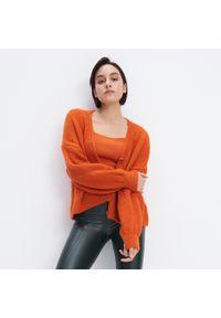 Pomarańczowy sweter Mohito