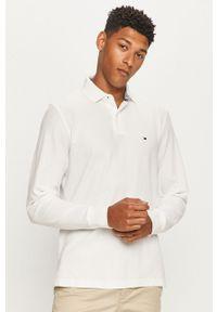 Biała koszulka z długim rękawem TOMMY HILFIGER casualowa, krótka