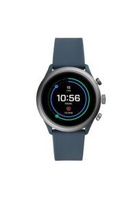 Szary zegarek Fossil smartwatch, sportowy
