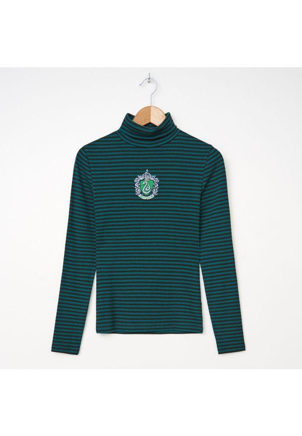 Zielona bluzka House z golfem