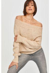 Beżowy sweter Answear Lab z długim rękawem, długi, wakacyjny