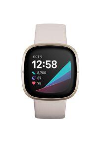 Beżowy zegarek FITBIT elegancki, smartwatch